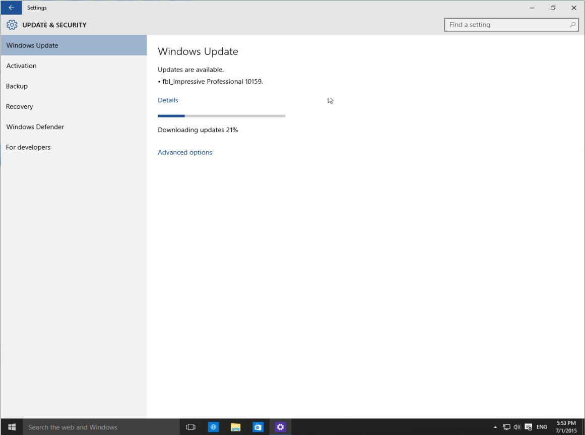 Windows 10 Build 10159 available!