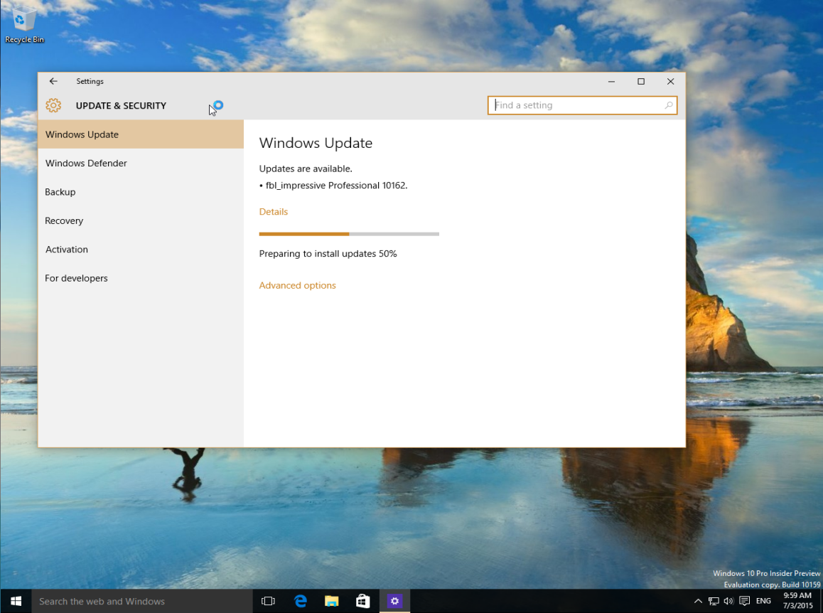 Windows 10 Build 10162 available