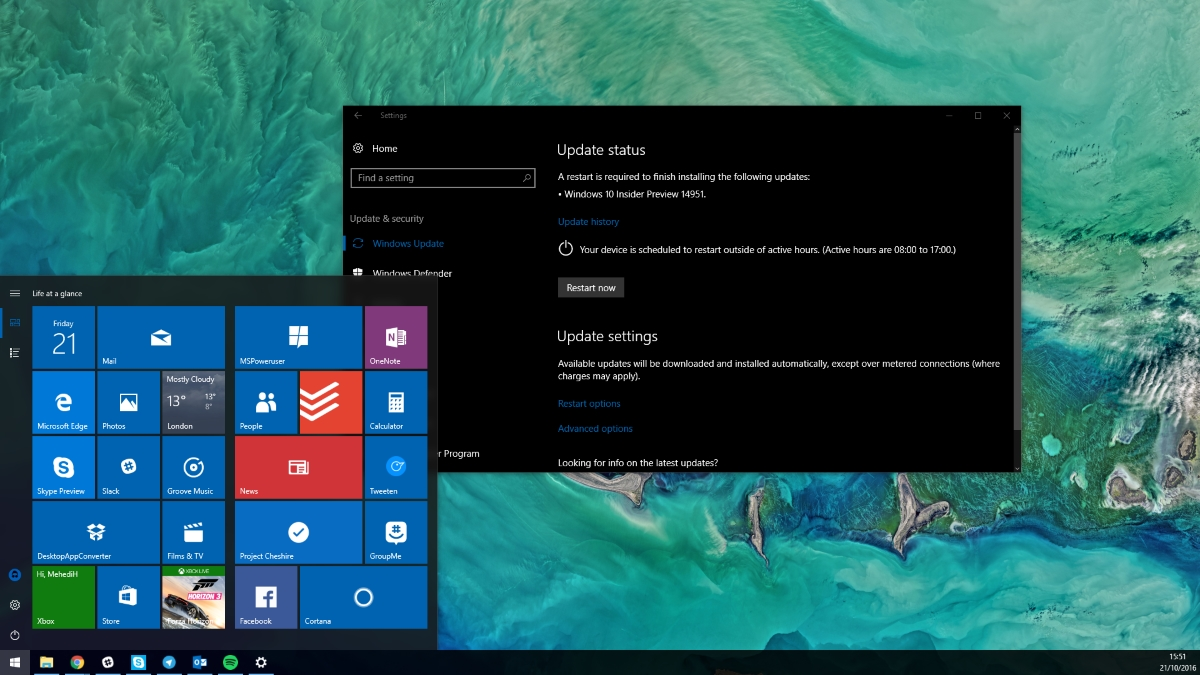 Download Windows 10 Insider Preview build 15025 ISOs